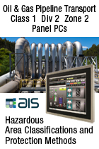 Pipeline Transport Class 1 Div 2 ATEX Zone 2 Hazardous Area Panel PC
