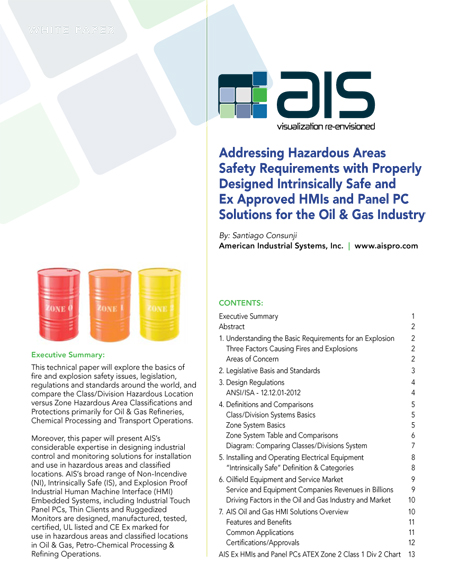 Hazardous Area Classifications and Protection Methods