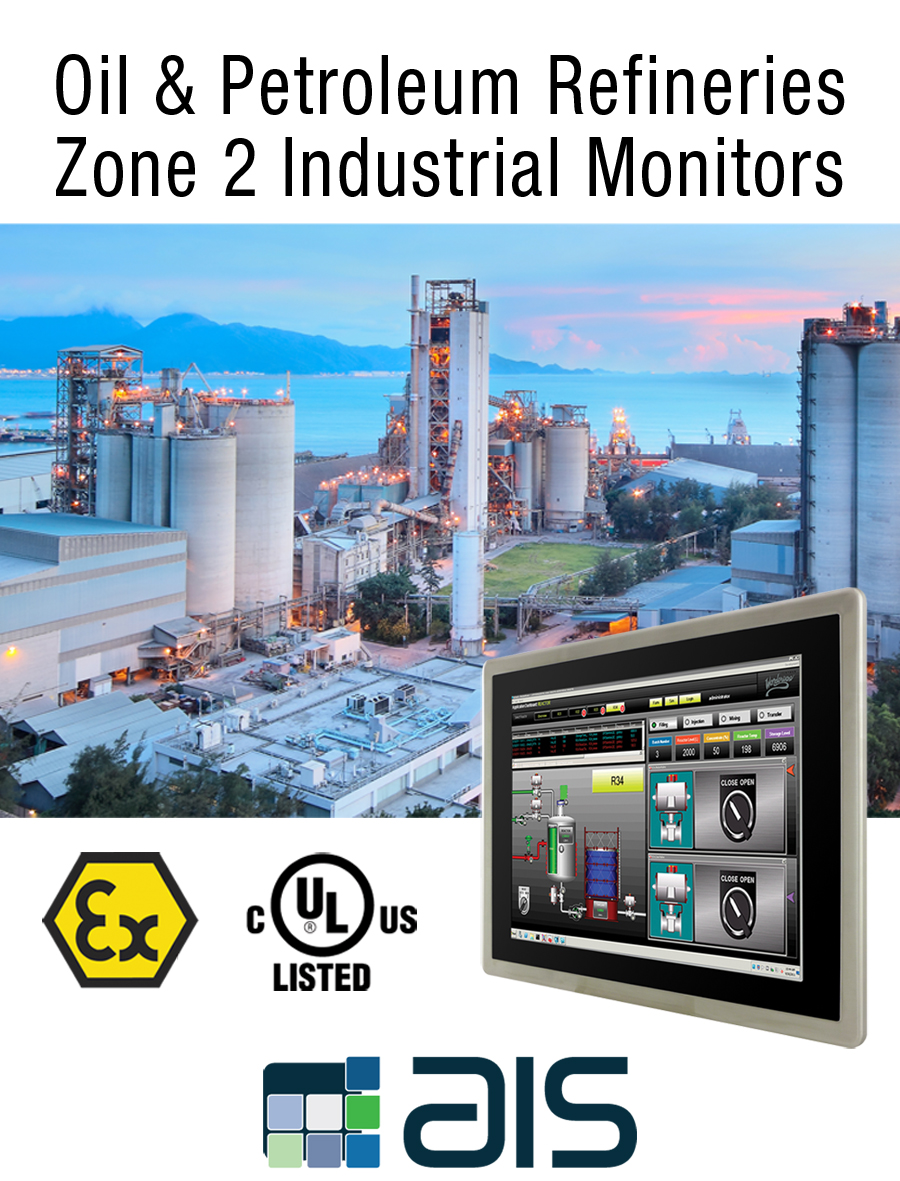 Oil and gas refineries class 1 division 2 zone 2 industrial monitor