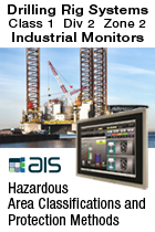 ATEX Ex Zone 2 Class Div 2 Touch Screen Monitor for Oil Refineries HMI Applications
