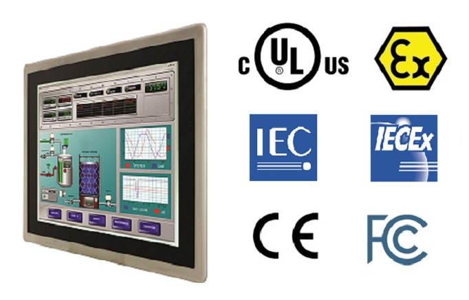 HMI Panel PC with UL Class I Division 2 (C1D2 or Class I Div 2), ATEX Category 3, IECEx and IEC Zone 2 Certified