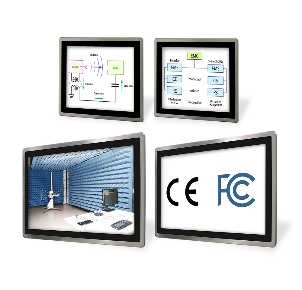 Industrial Panel PC, FCC CE and EMC Certifications