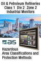 ATEX Ex Zone 2 Class Div 2 Touch Screen for Oil Refineries HMI Applications