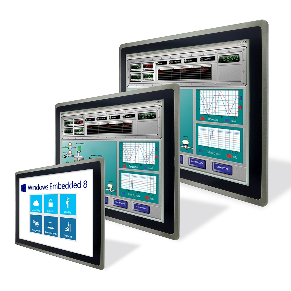 Operator Interface Panel powered by Windows Embedded 8 with and intelligent HMI systems solution for automated manufacturing and smart factories