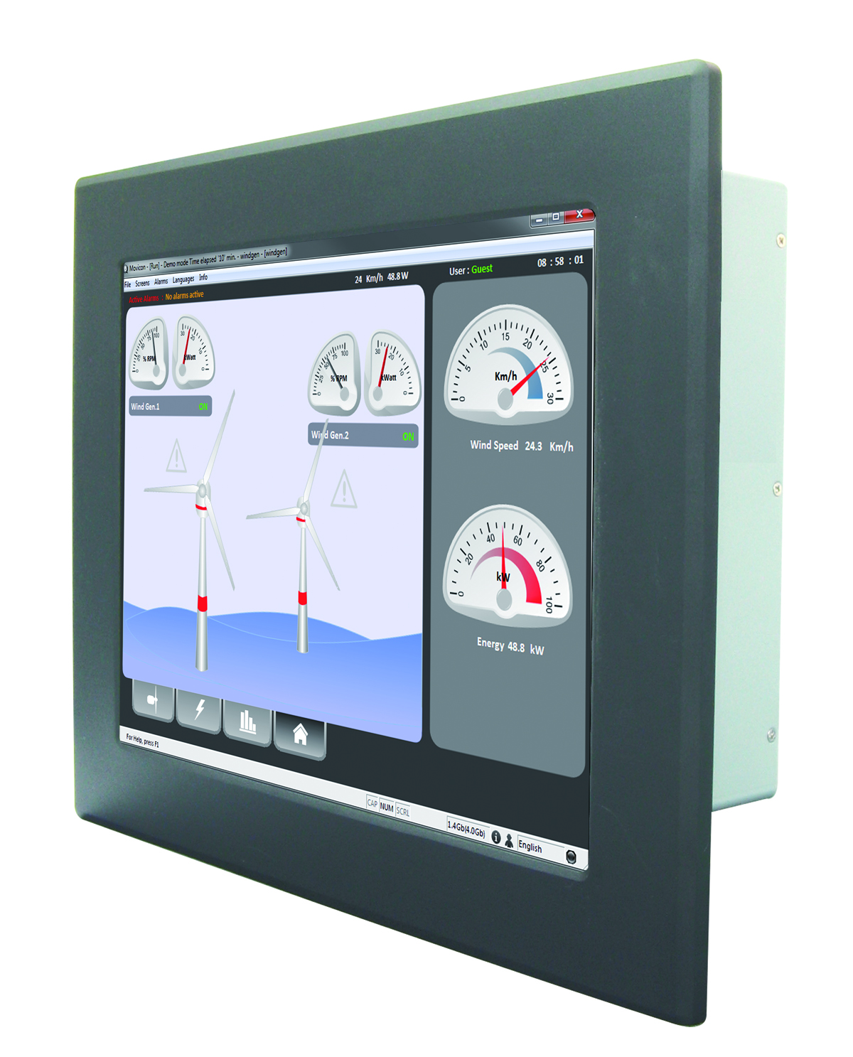 Wide Temperature Touch Panel PC Computers With An Extended Temperature Range Of -20°C To 60°C