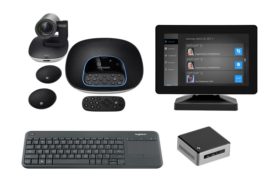 Logitech GROUP Kit with Intel NUC for Video Collaboration